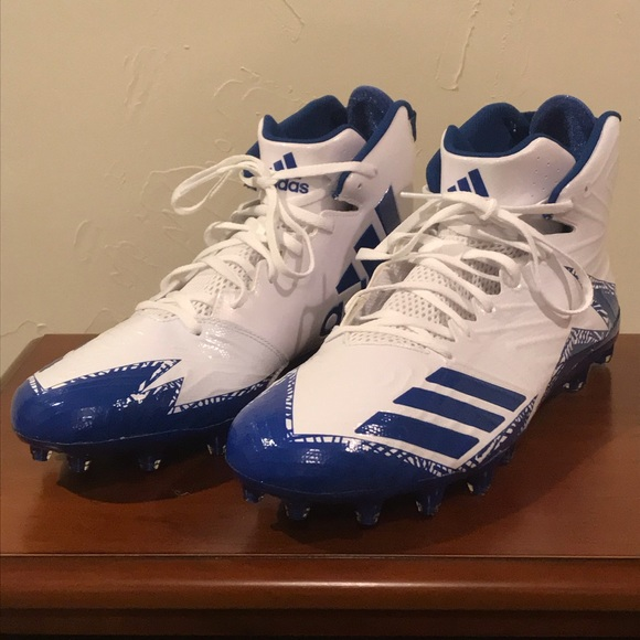 214eca72dd02 Adidas Freak x Carbon Mid Cleats White Blue Men 15